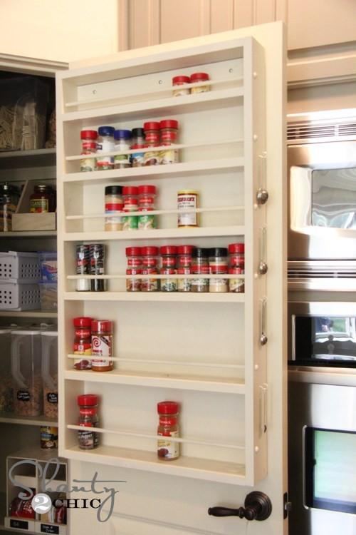 5. DIY Spice Rack Door