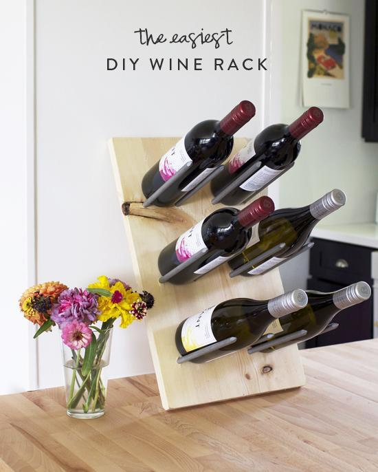 5. Easy-To-Make Wine Rack DIY