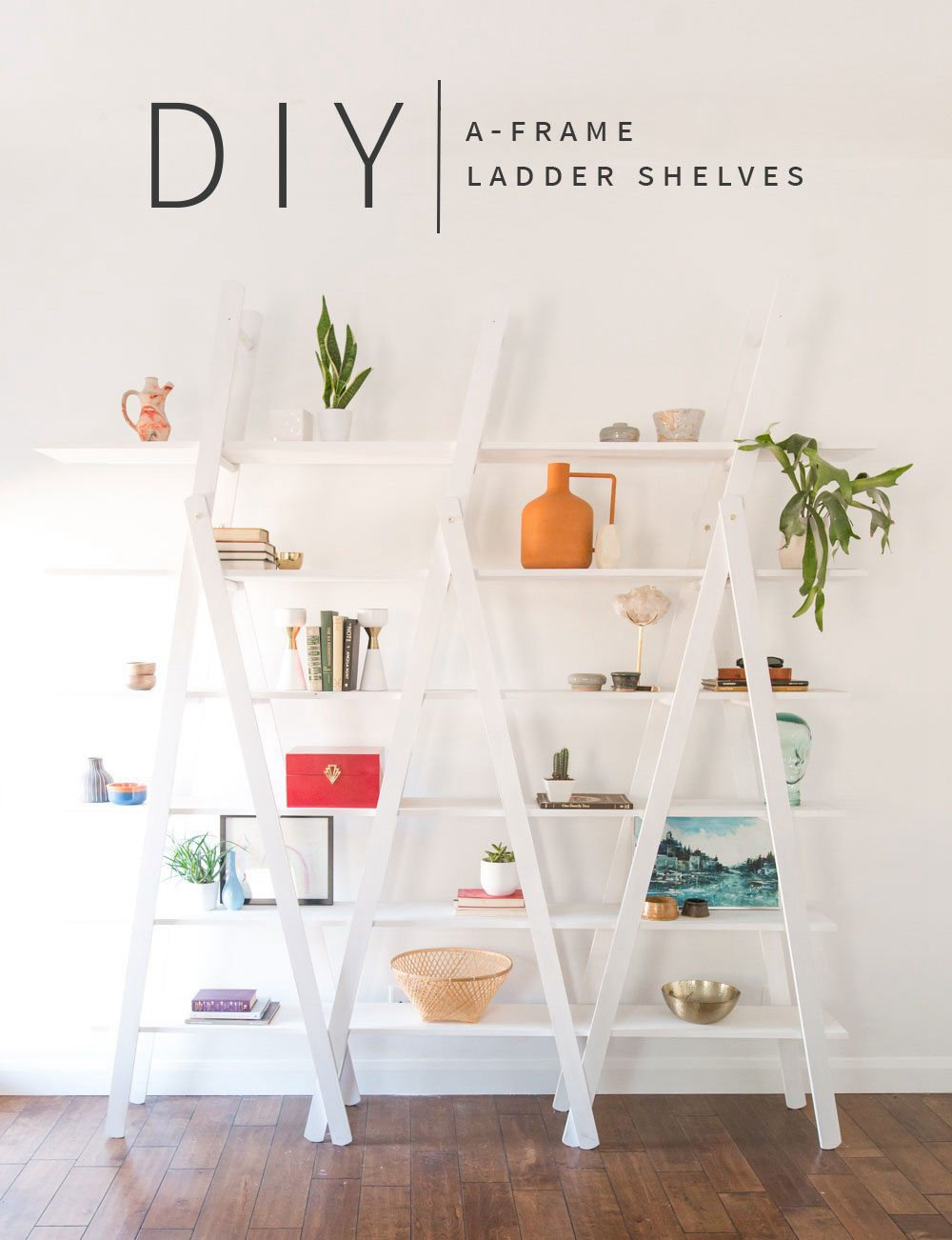 5. Kitchen A-shelf DIY