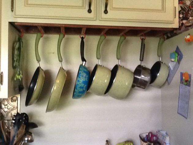 5. Under Cabinet DIY Pot Rack