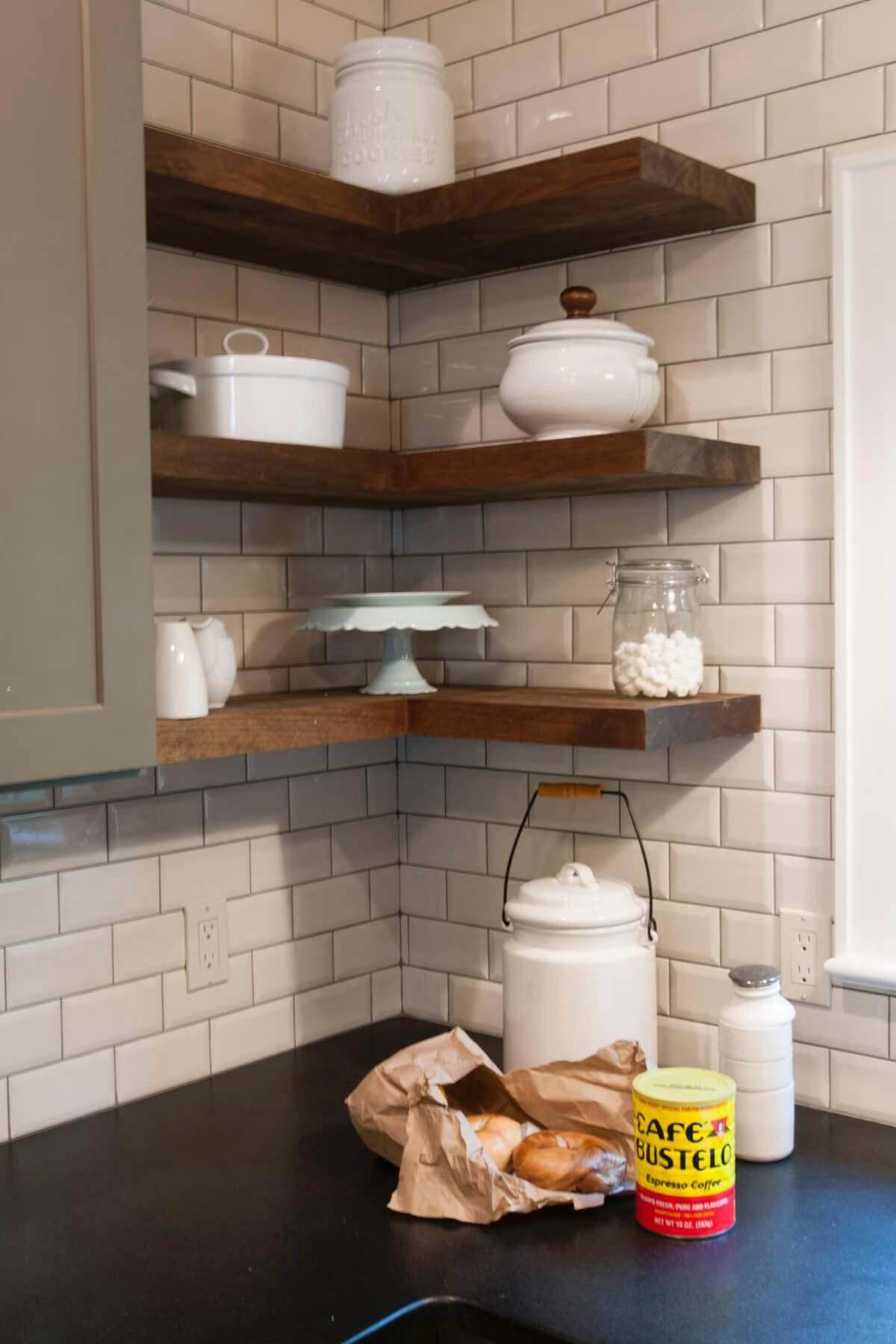 5. Wall Hanging Kitchen Corner Storage Idea