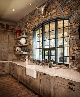 5.Ranch Rustic Kitchen