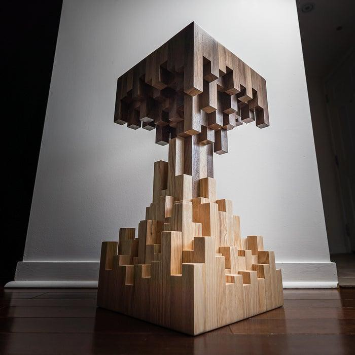 6. DIY Pixelated End Table