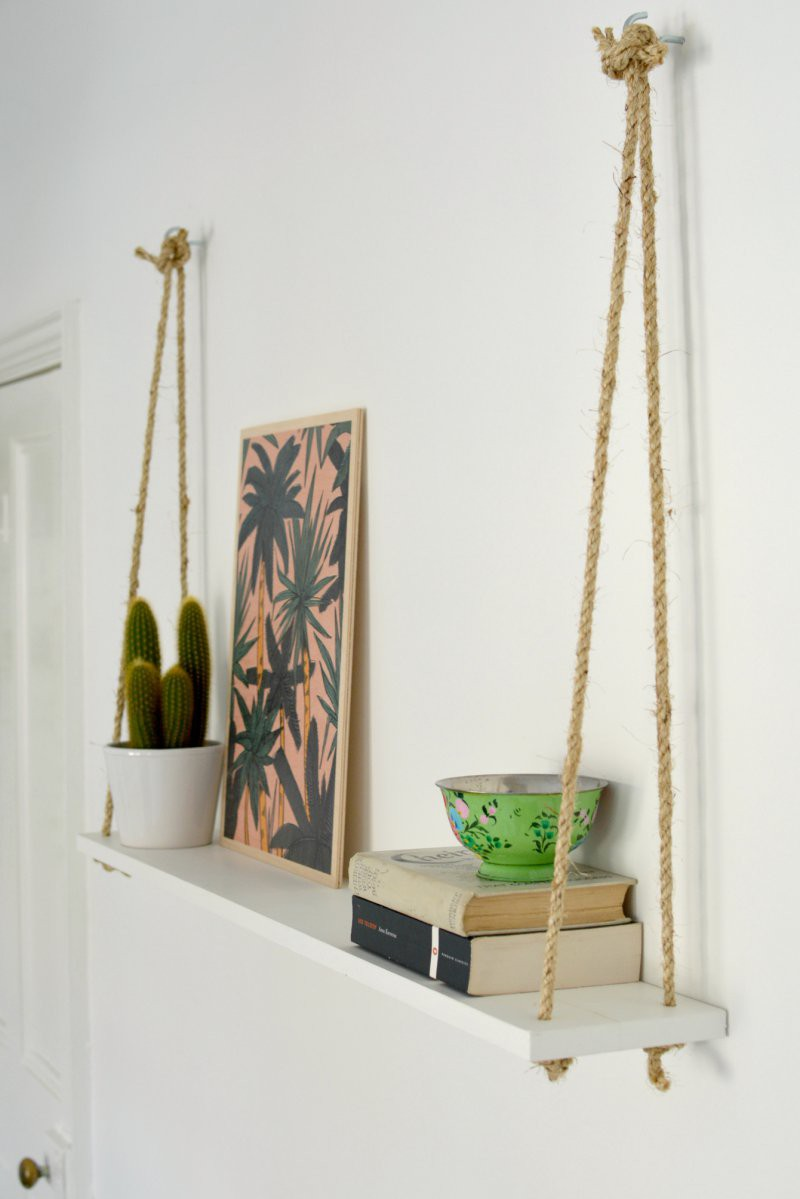 6. DIY Rope Shelves