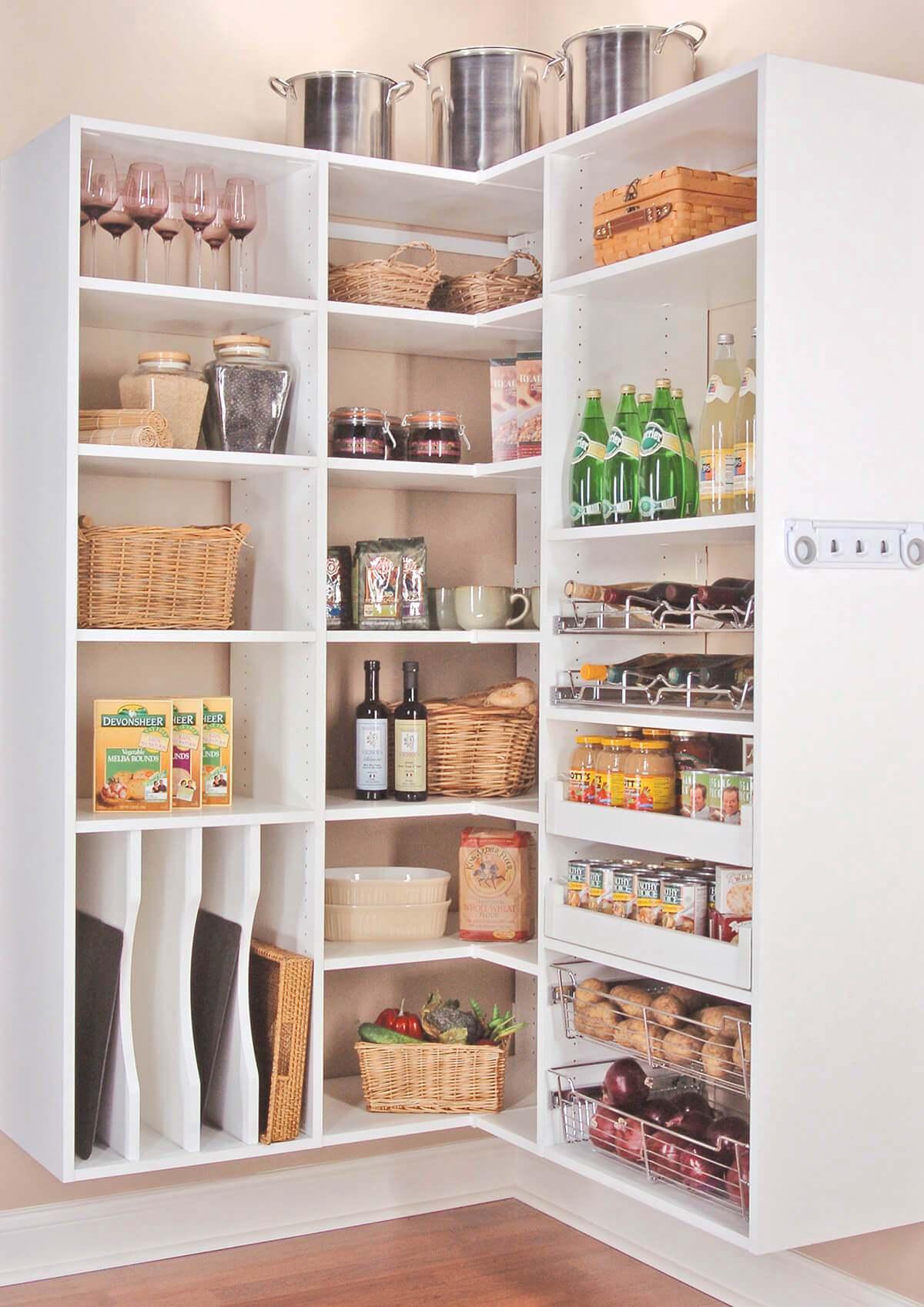 6. Large Kitchen Corner Pantry