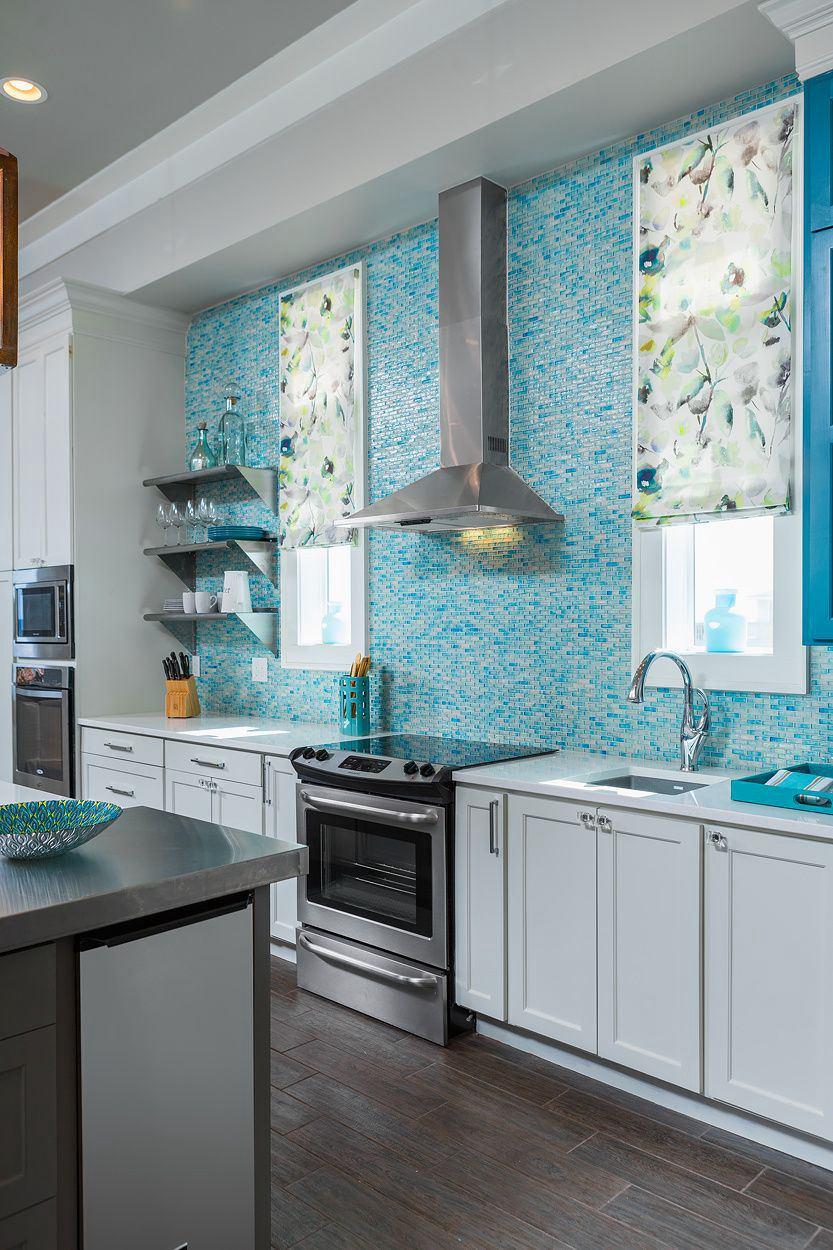 6. Teal Kitchen Backsplash