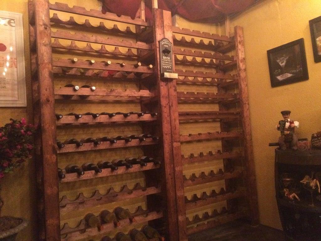 6. Wine Rack Tower DIY