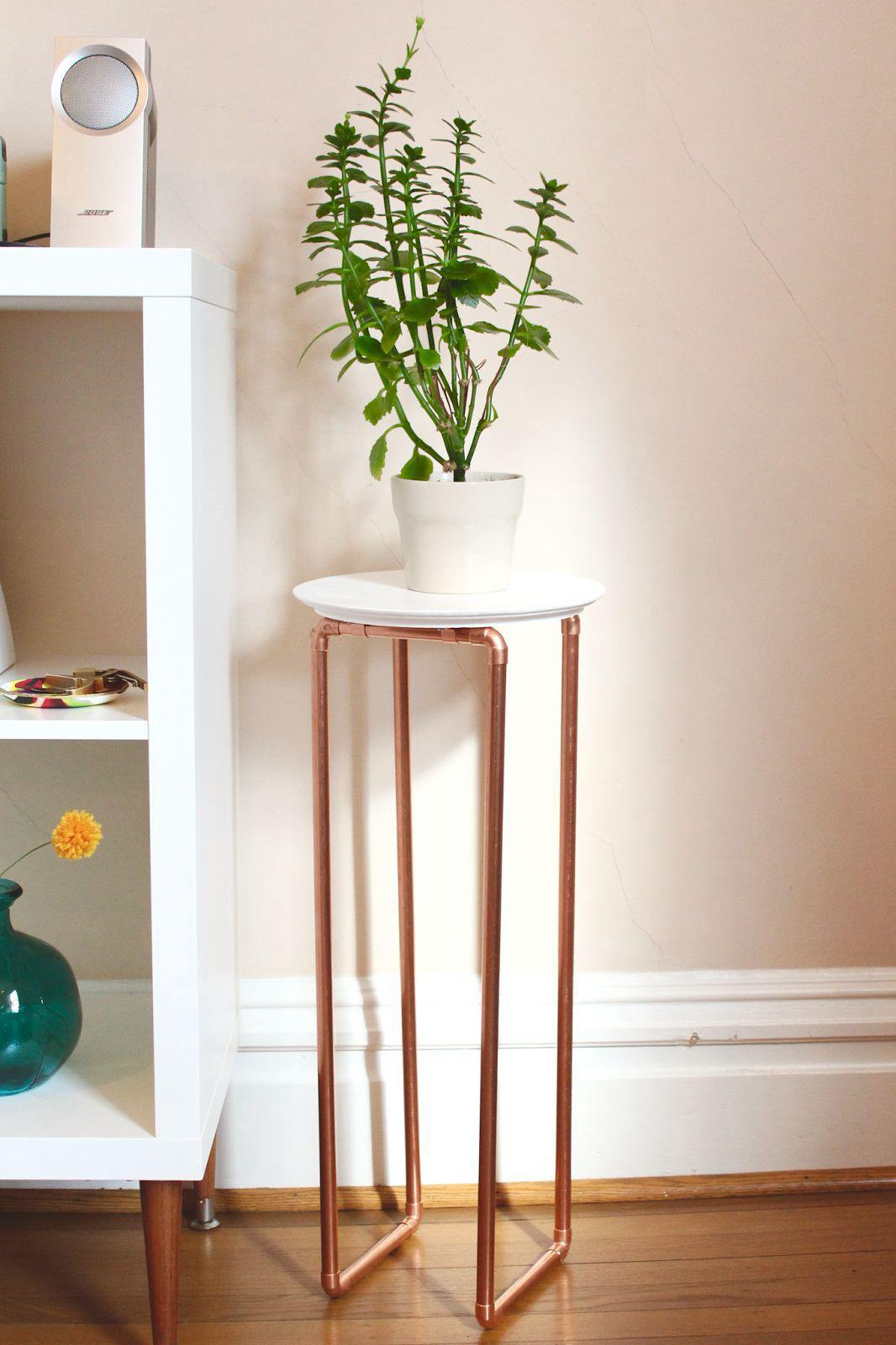 7. Copper Pipe End Table DIY