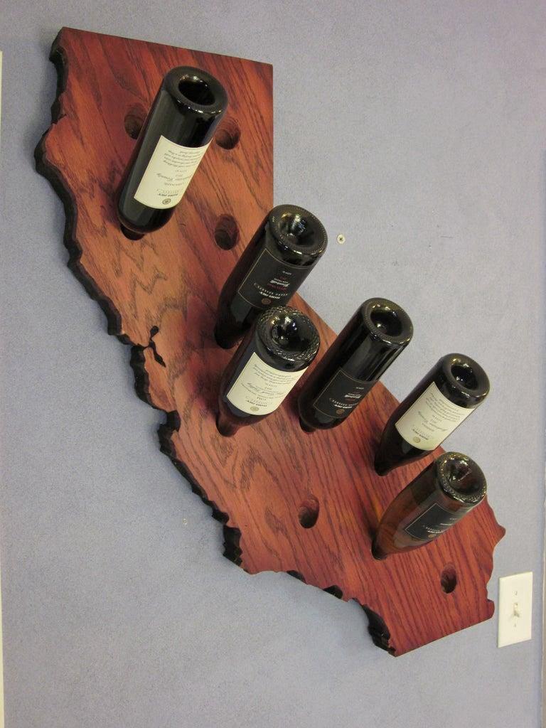 7. DIY California Wine Rack