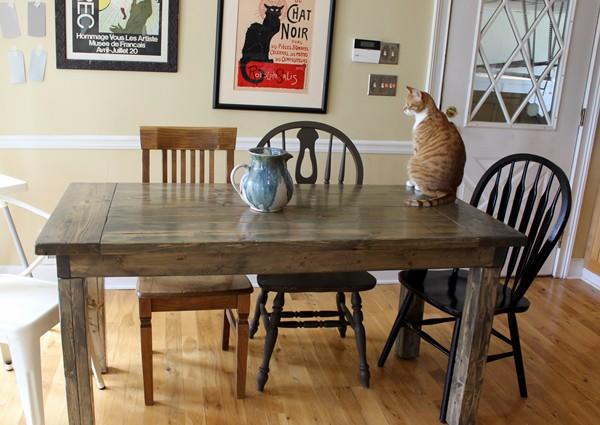 8. DIY Farmhouse Kitchen Table