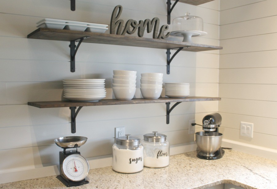 8. DIY Kitchen Shelf Ideas
