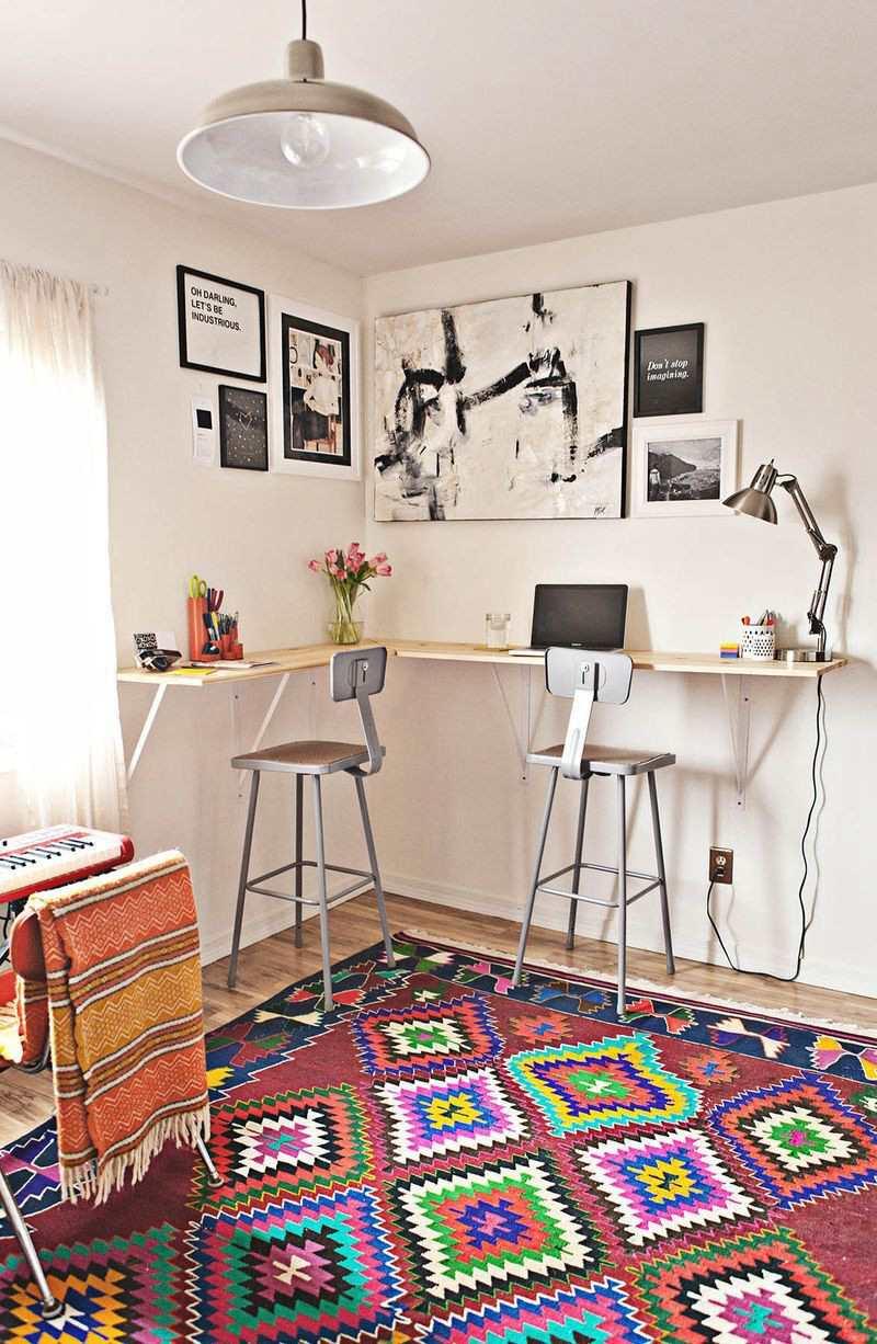 8. DIY Minimalistic Corner Desk