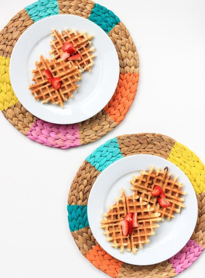 8. DIY Pinwheel Placemats