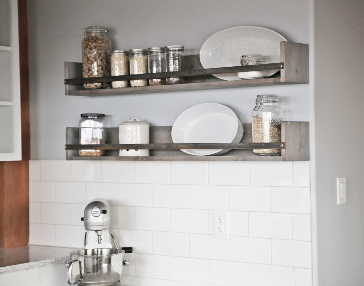 8. DIY Rustic Shelf For Spices