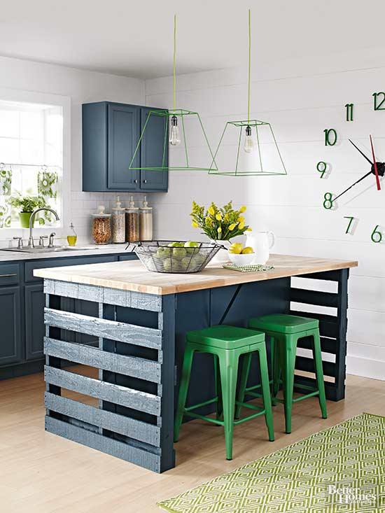 8. Kitchen Island From Wood Pallets