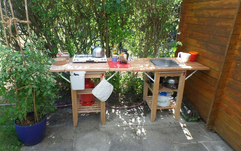 8. Outdoor Kitchen For Garden Shed