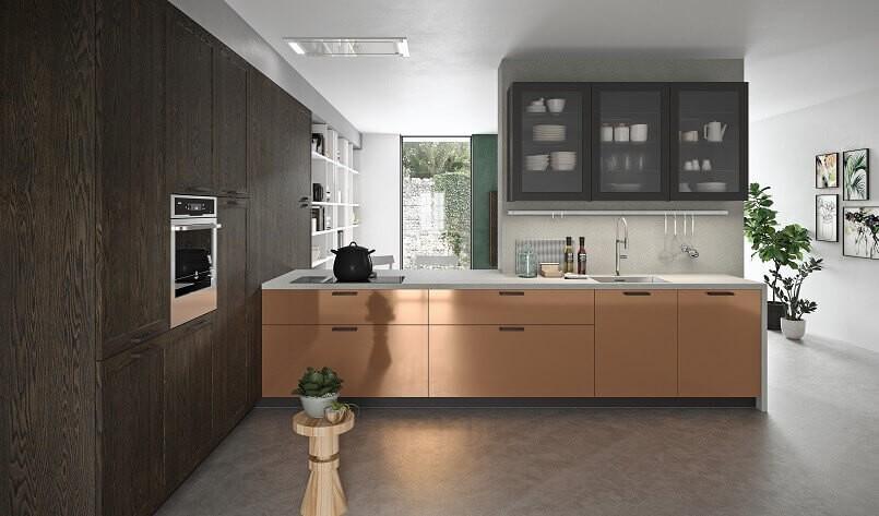 9. Copper Kitchen Cabinets