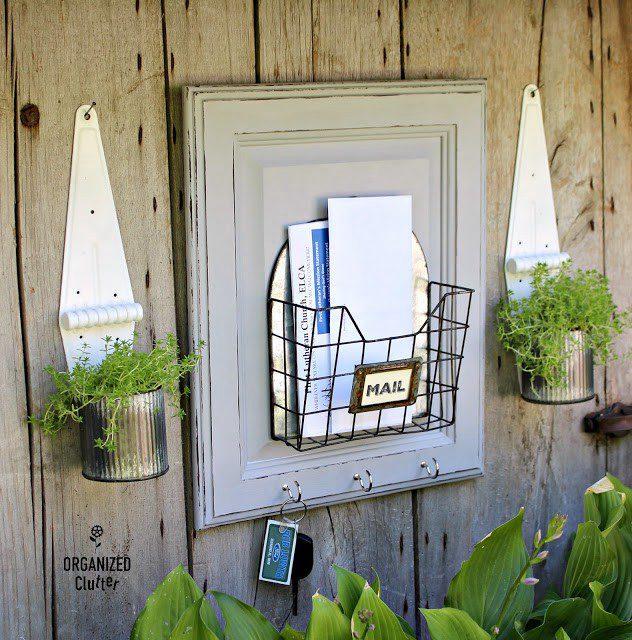 9. DIY Cabinet Door Mail Holder