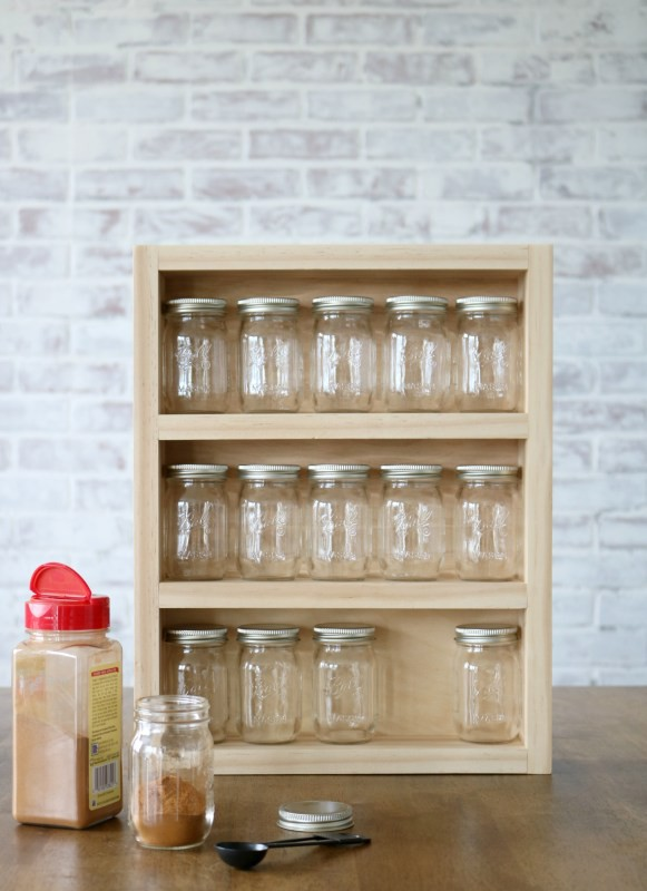 9. DIY Mini Mason Jar Spice Rack