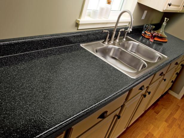 9. DIY Paint Laminate Kitchen Countertop