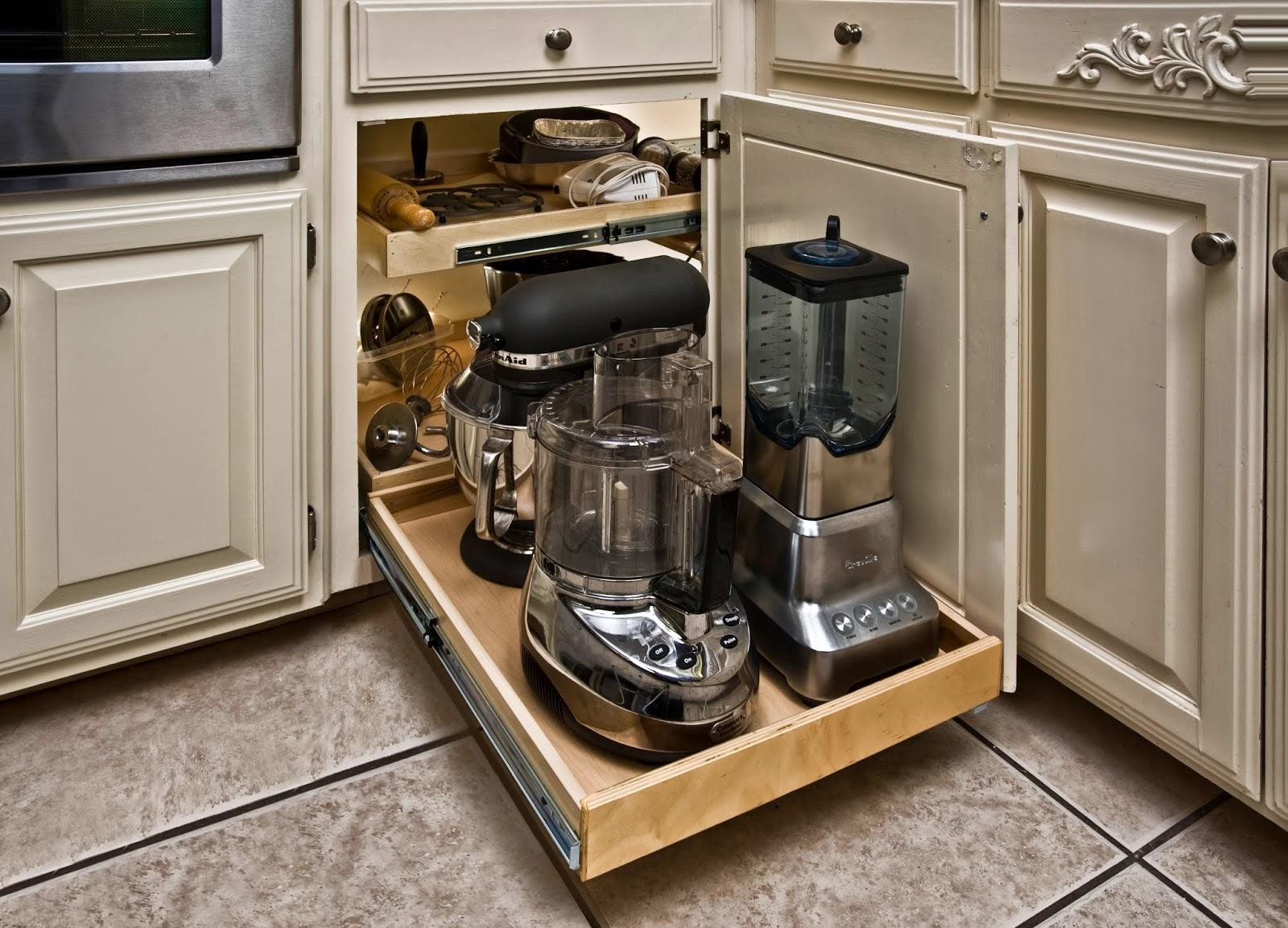 9. Pull Out Cabinet Kitchen Appliance Organiser