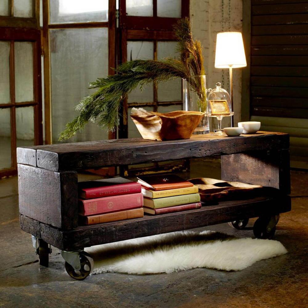 9. Reclaimed Wood Coffee Table