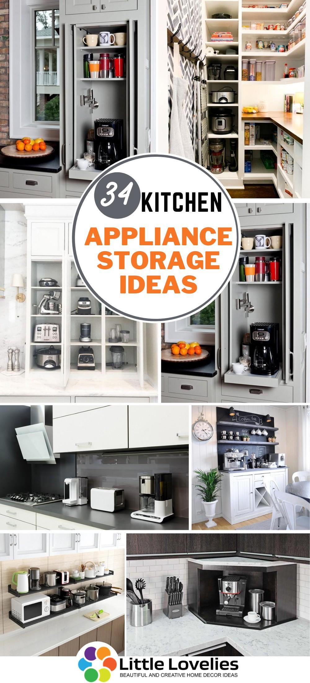 Best Amazingly Outstanding Kitchen Appliance Storage Ideas
