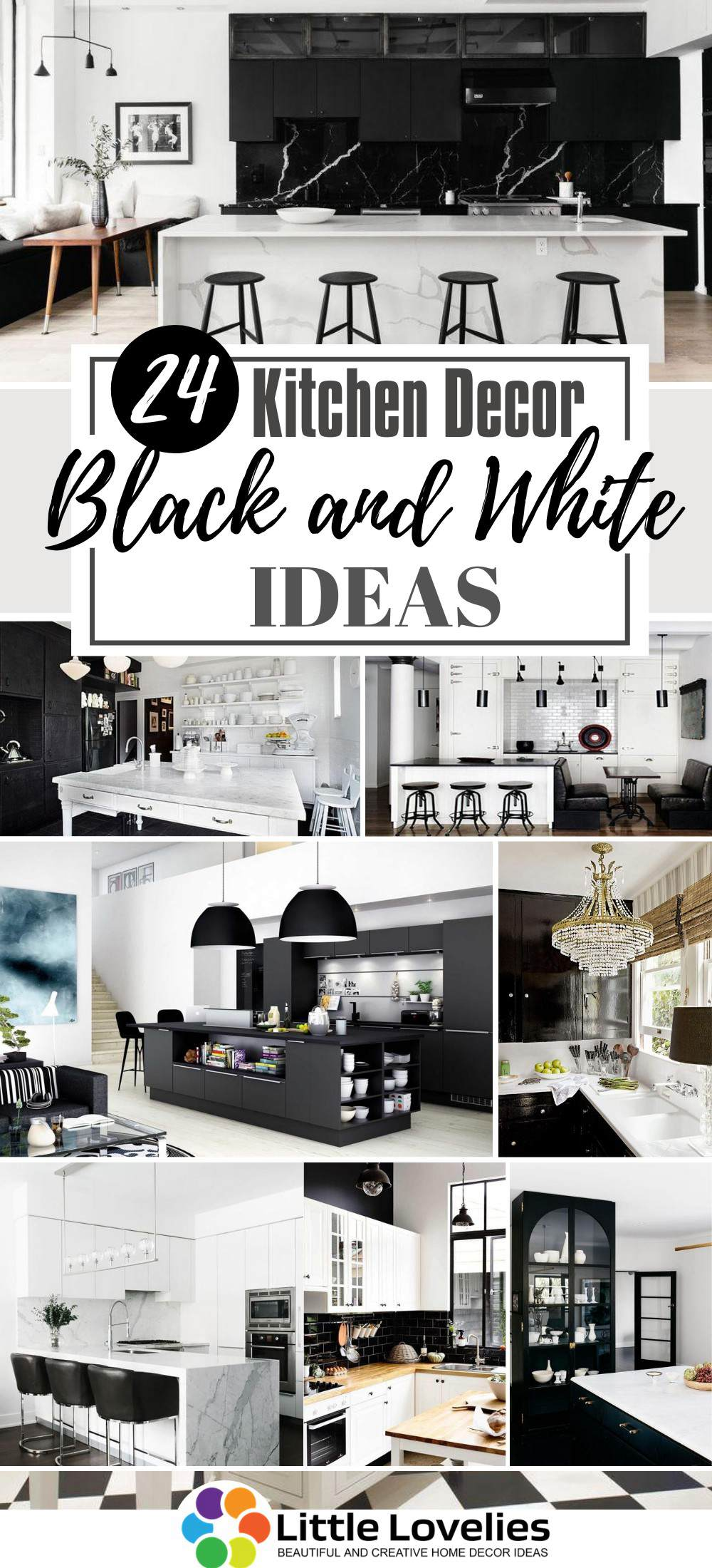 Best Black and White Kitchen Decor Ideas