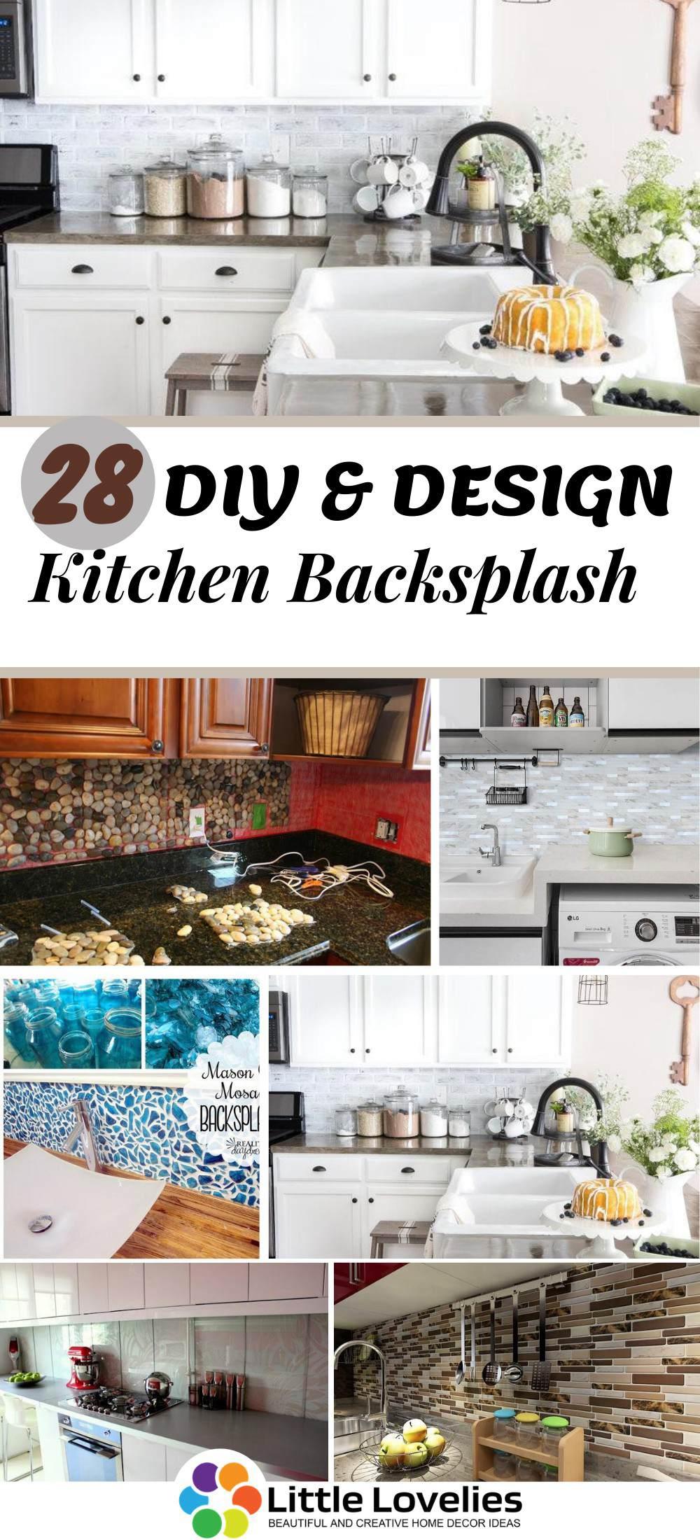 28 Diy Kitchen Backsplash Ideas That Will Make Your Kitchen Look Great