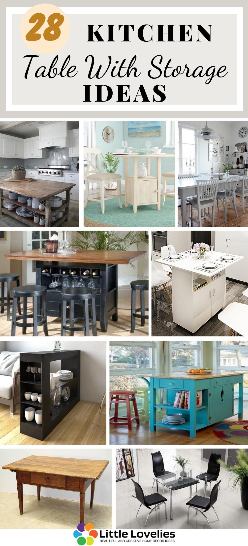 Best Kitchen Table With Storage Ideas