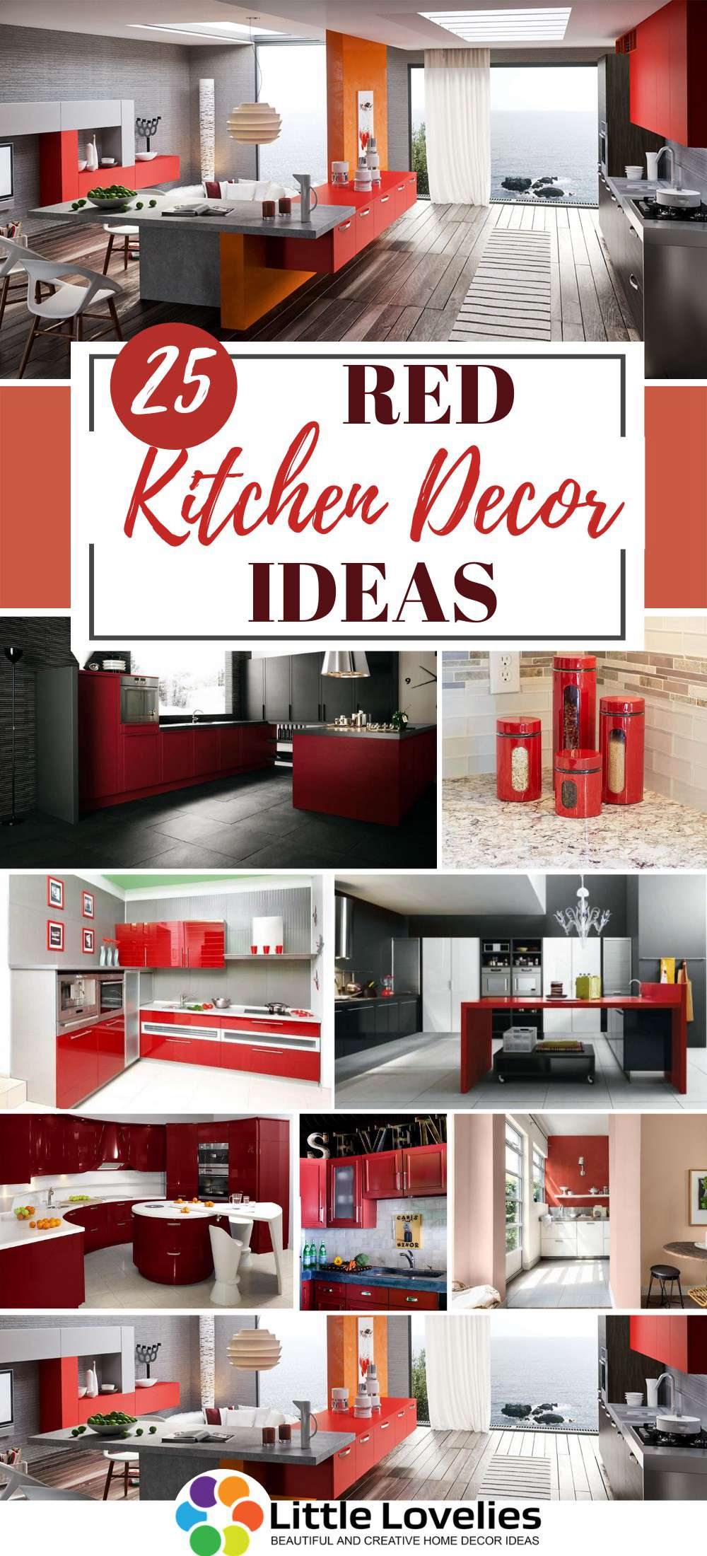 25 Red Kitchen Decor Ideas Decorating Tips For Red Colored Kitchens