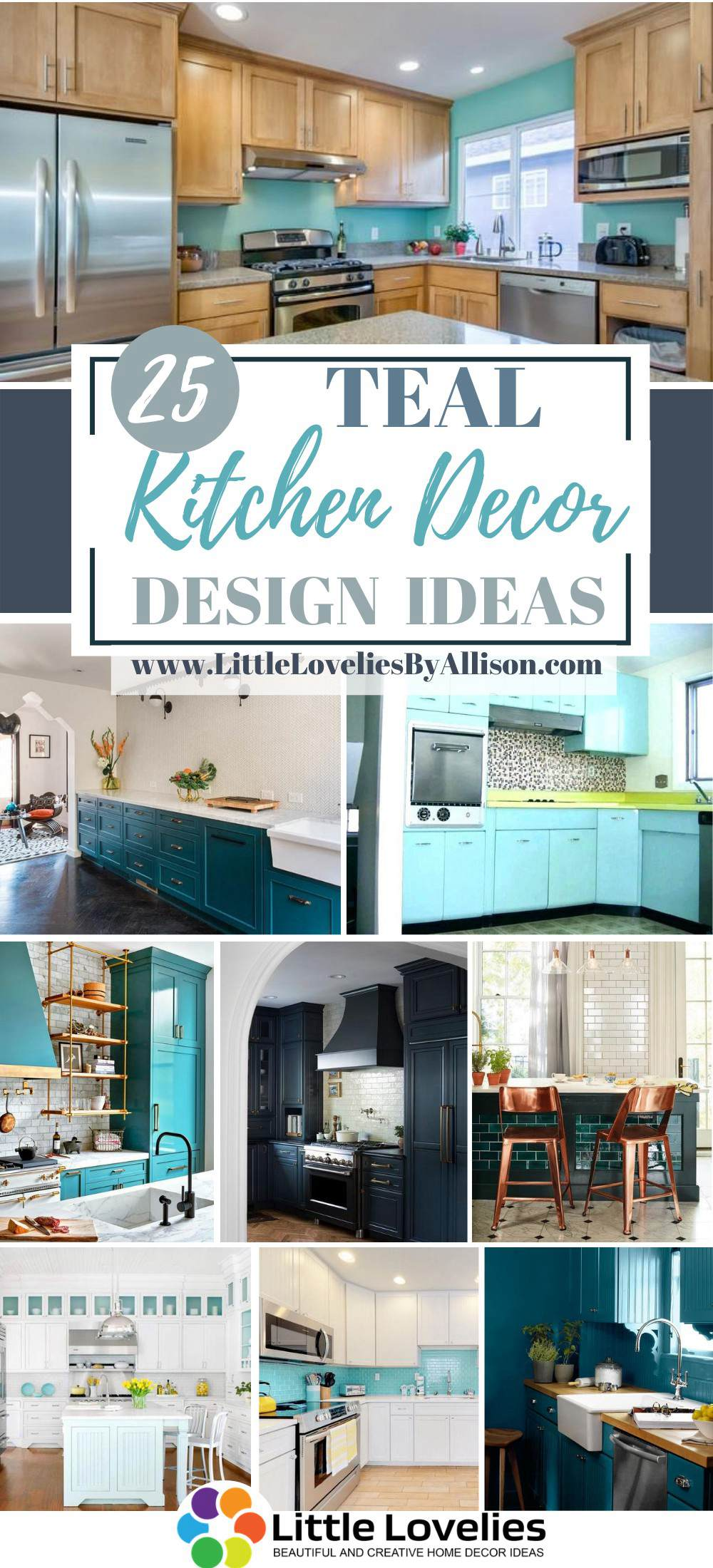 3 Teal Kitchen Decor Ideas - Decorating a Teal Kitchen