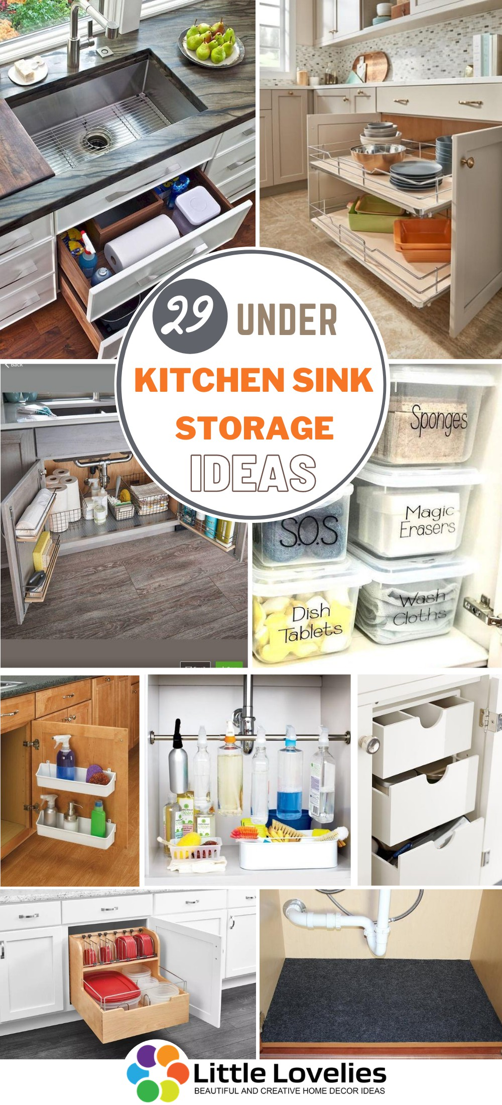 29 Under Kitchen Sink Storage Ideas To Increase Storage Space In Your Kitchen