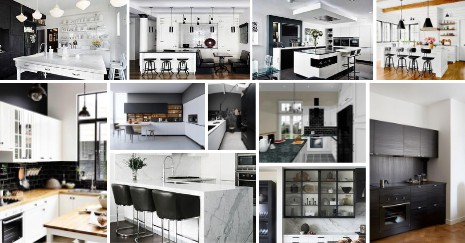 Black and White Kitchen Decor Ideas
