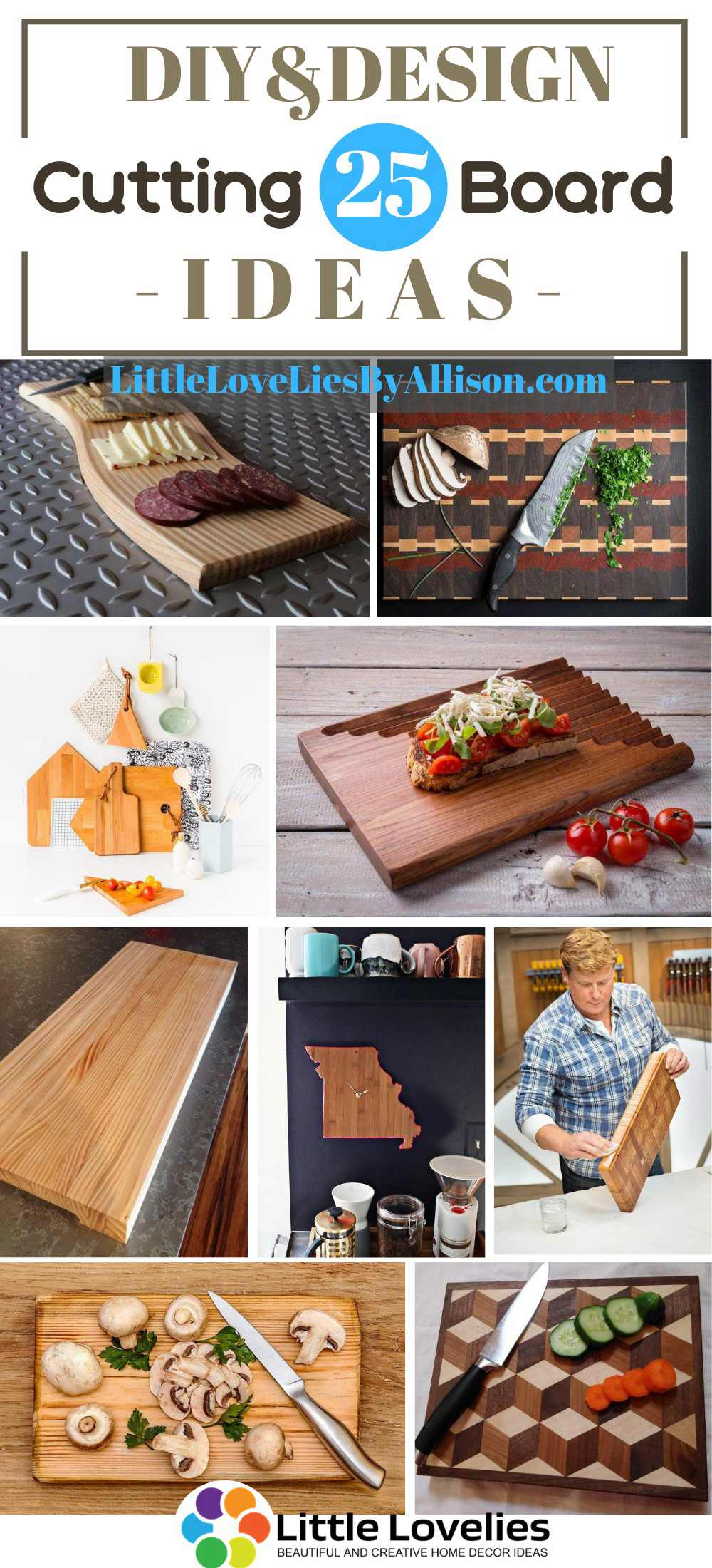 25 Diy Cutting Board Ideas Make A Cutting Board For Your Kitchen