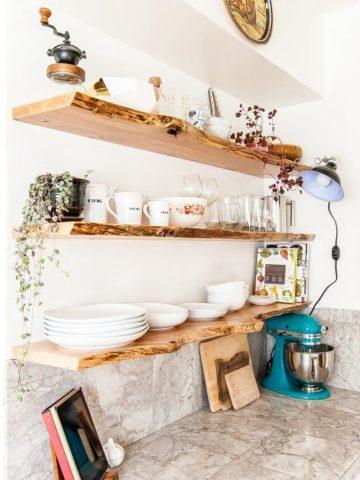 DIY Kitchen Shelves Ideas