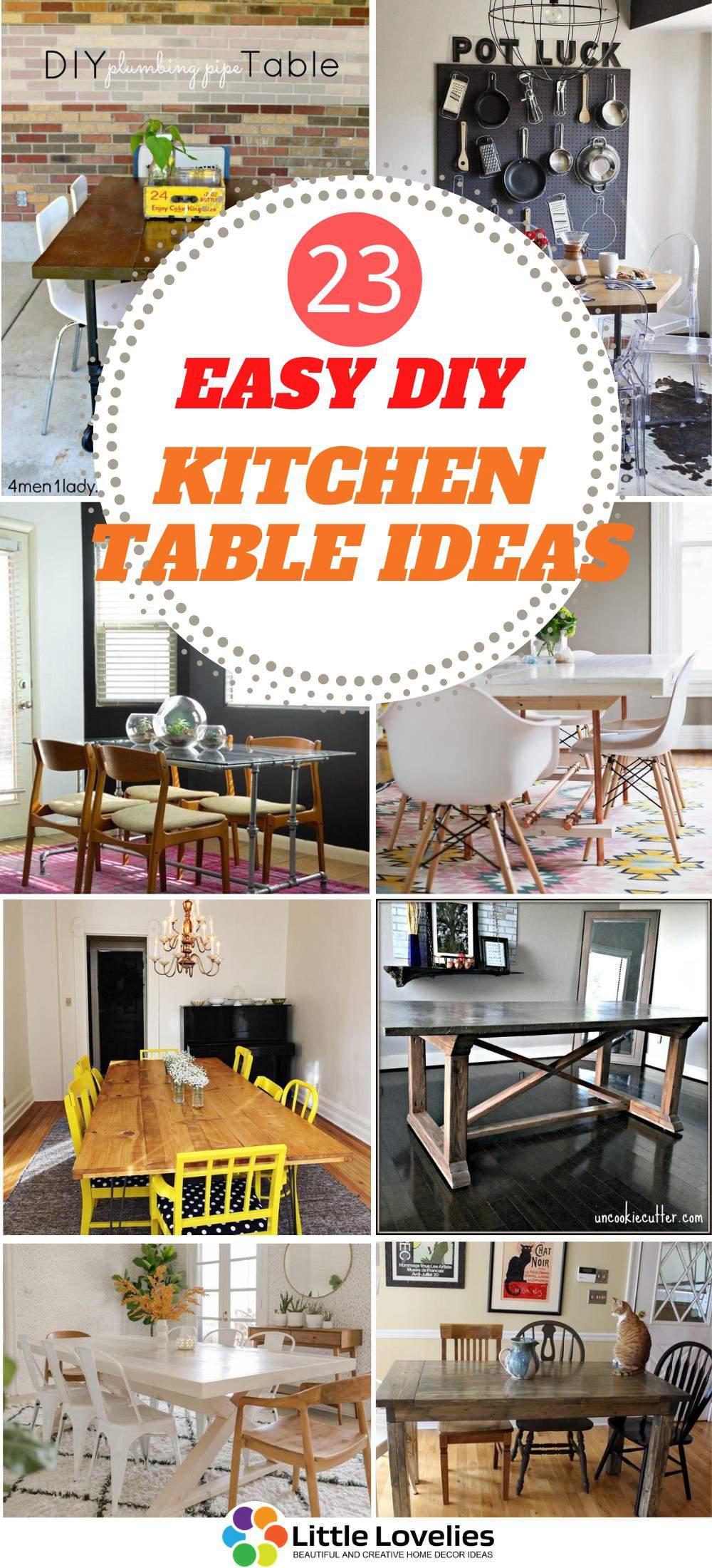 DIY Kitchen Table Ideas