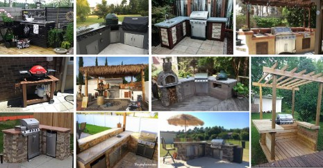 DIY Outdoor Kitchen Ideas and Plans