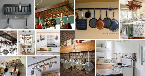 Featured DIY Pot Rack Ideas