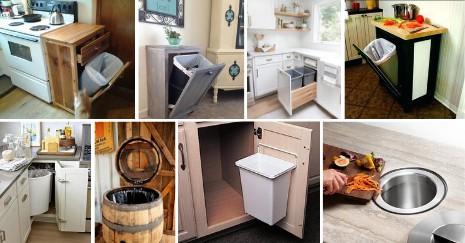 Kitchen Garbage Can Storage Ideas