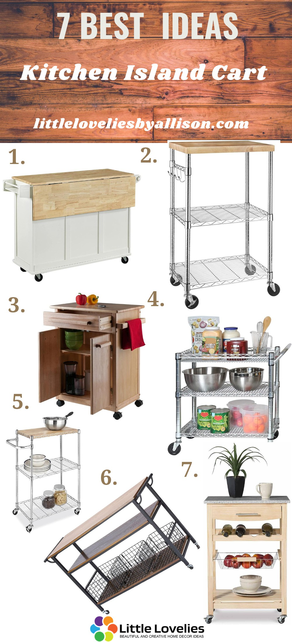 Our Favorite Kitchen cart to buy on Amazon