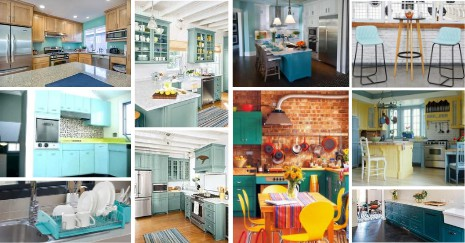 Teal Kitchen Decor Ideas