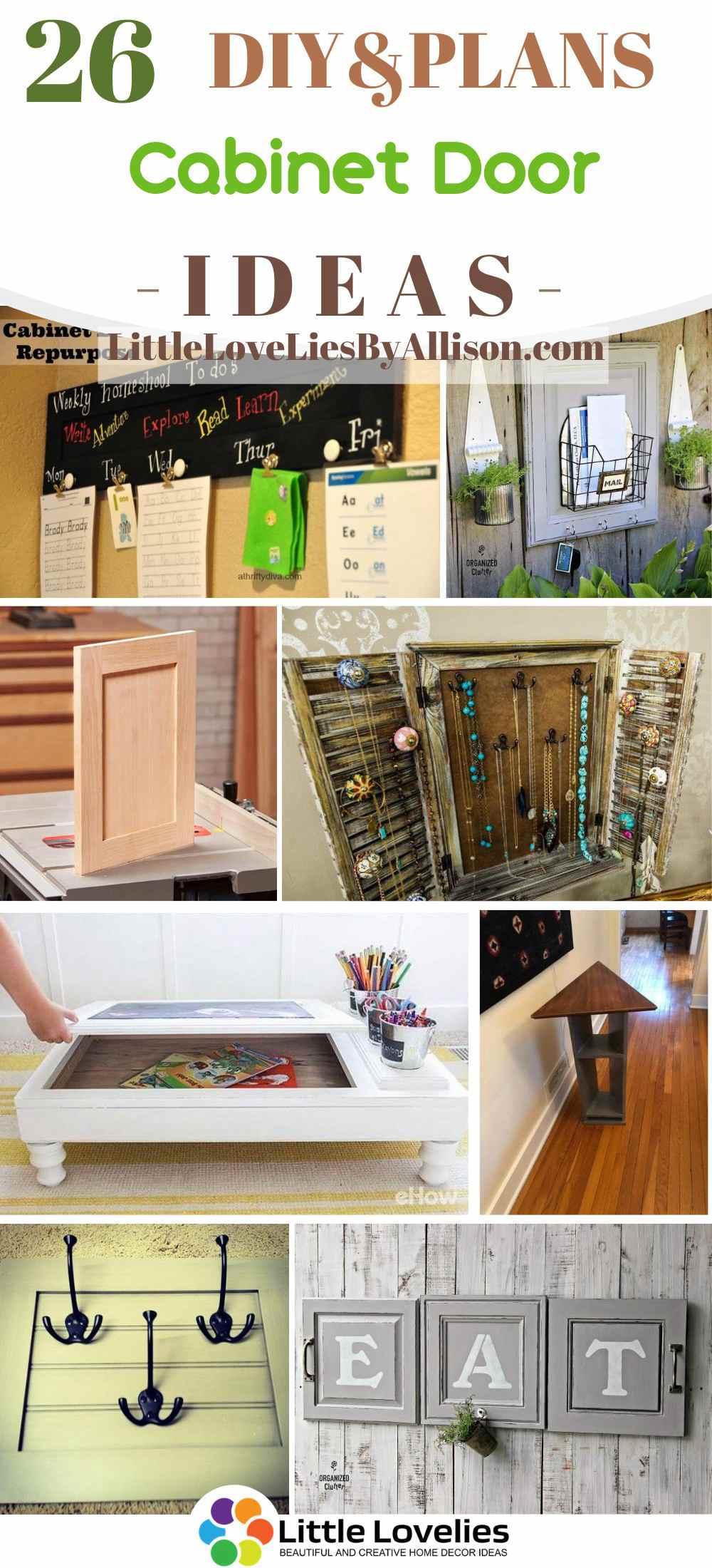 26 Diy Cabinet Door Ideas Repurpose Your Old Cabinet Doors