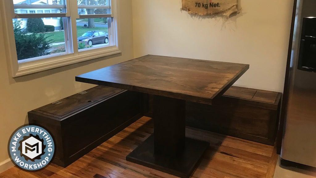 1. DIY Breakfast Nook With Storage