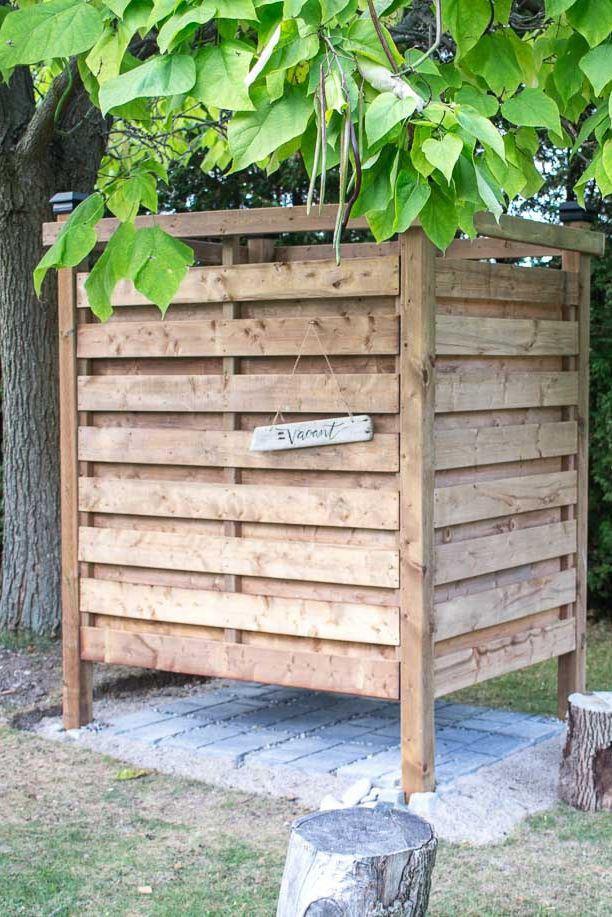 1. Freestanding Outdoor Shower DIY