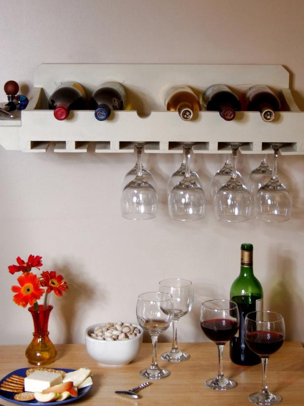 1. How To Build A Rack For Bottles And Glasses