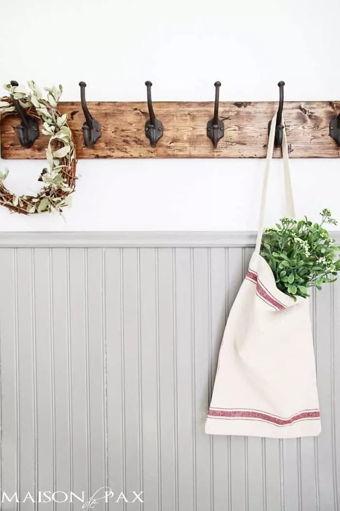 1. Rustic DIY Towel Rack