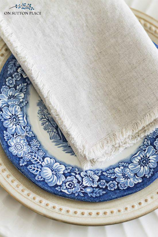 10. DIY No Sew Linen Cloth Napkins