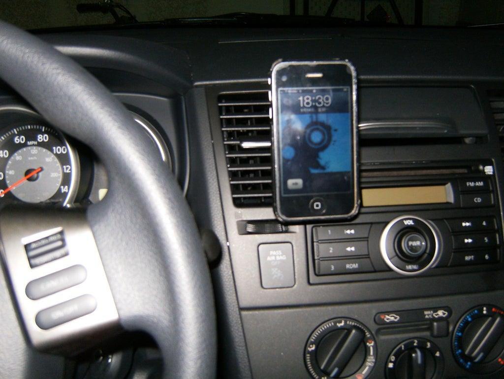 10. DIY iPhone Dock For Car