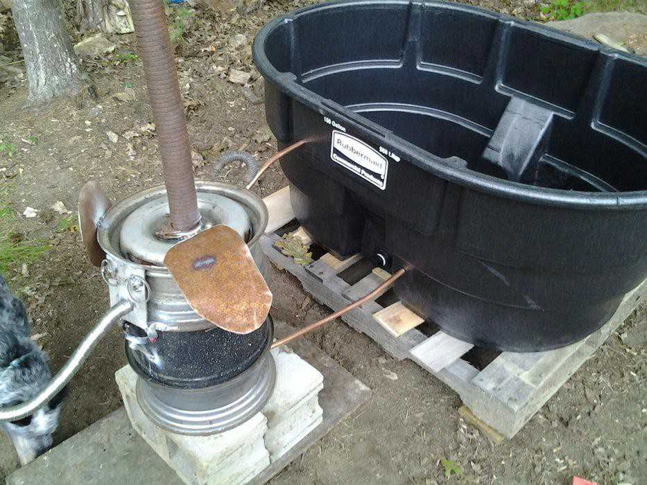 10. Easy DIY Hot Tub